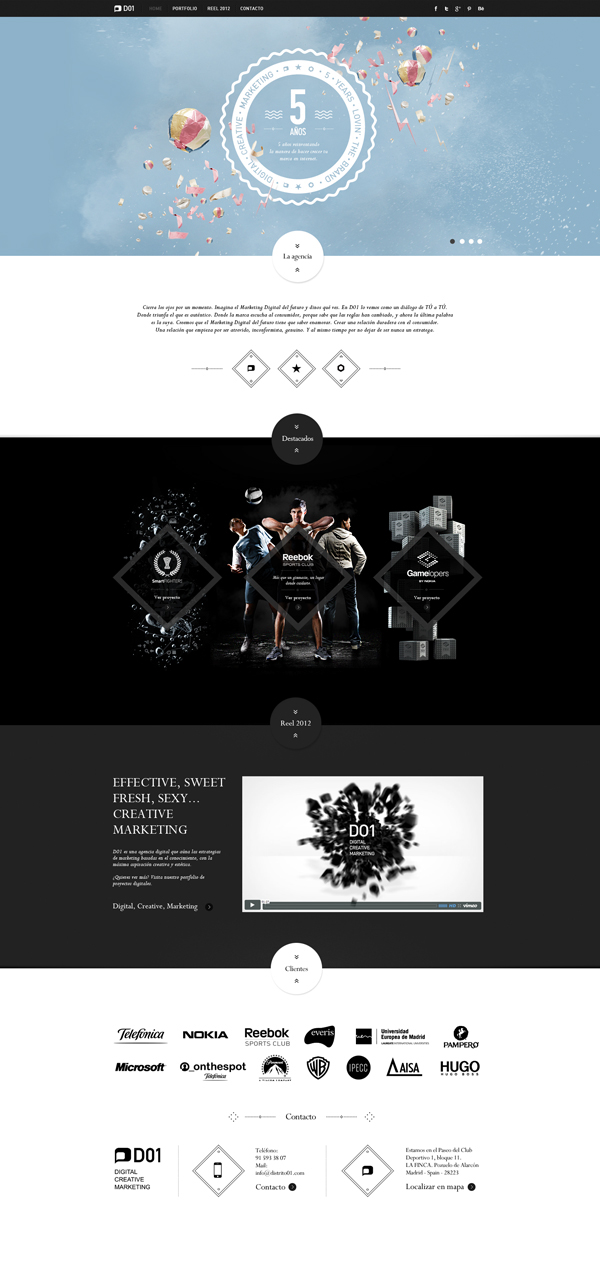 20 webdesigns de sites d'agences créatifs à découvrir