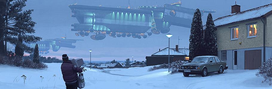L'inimaginable Suède rétro-futuriste vue par le digital painter Simon Stålenhag