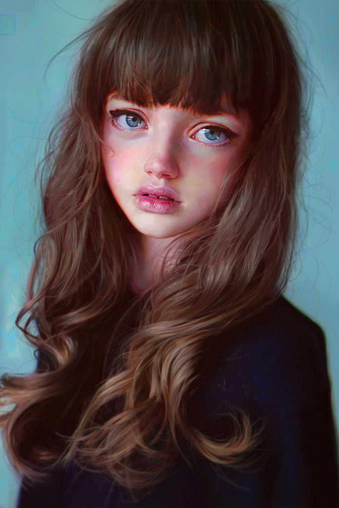 50 Portraits en digital painting à couper le souffle !