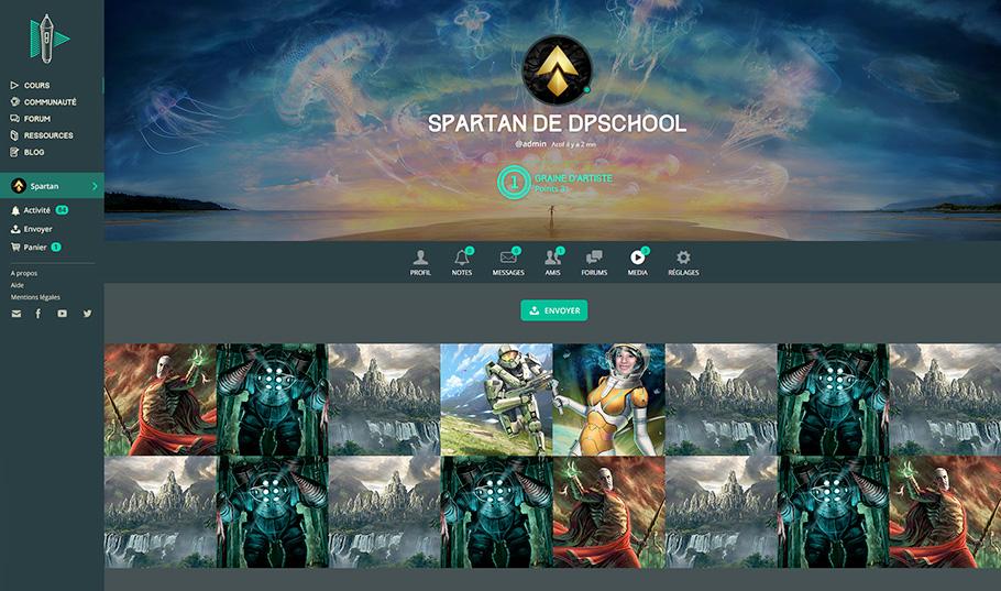 DigitalPainting.school : page Galerie