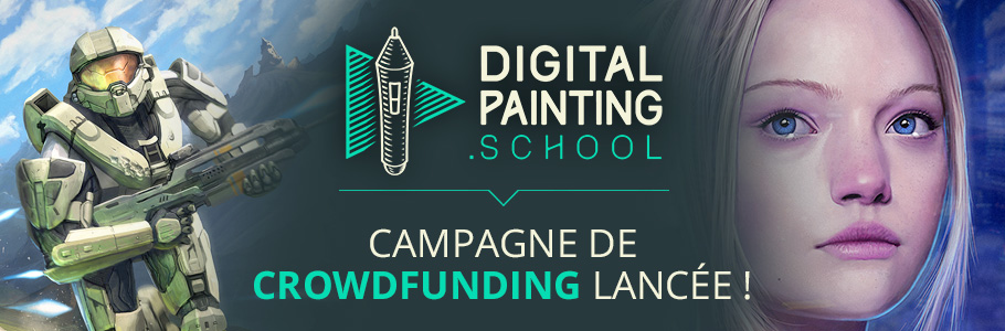 Lancement de la campagne de crowdfunding de DigitalPainting.school !