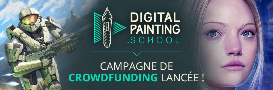 Lancement de la campagne de crowdfunding de DigitalPainting.school !