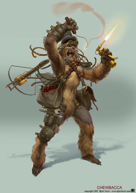 Les personnages de Star Wars revues façon Strampunk par Björn Hurri
