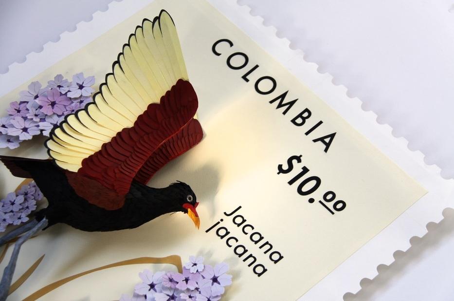 L'art du papier avec les magnifiques oiseaux de Diana Beltran Herrera
