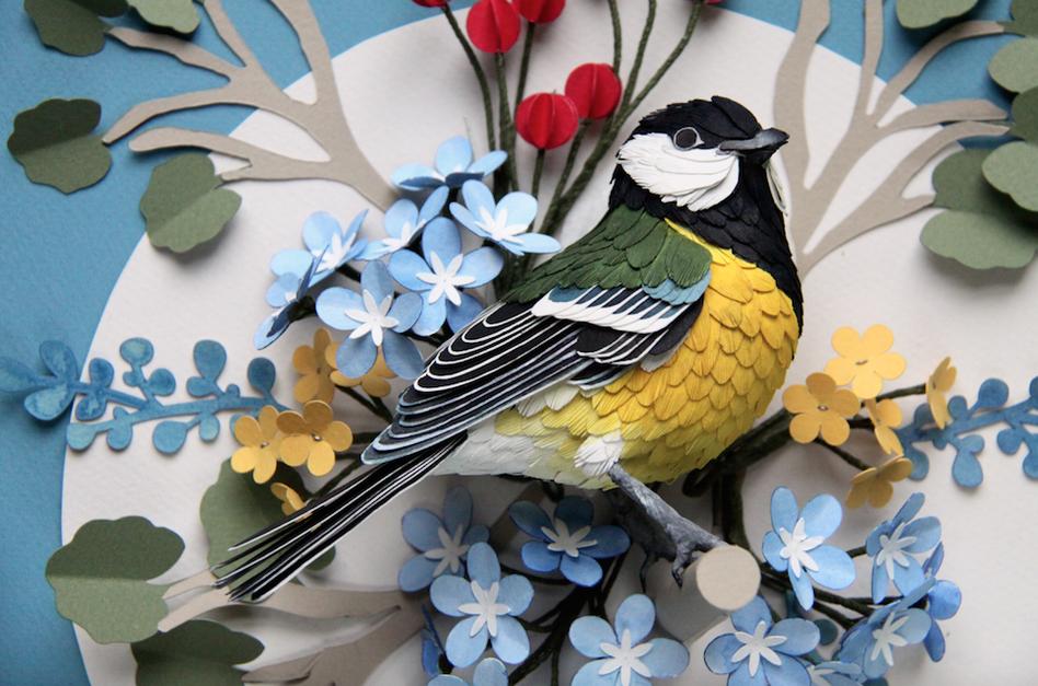 l art du papier avec les magnifiques oiseaux de diana. Black Bedroom Furniture Sets. Home Design Ideas