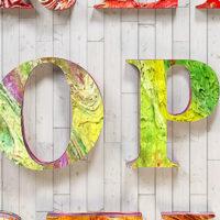Inspiration : Les typographies et créations en 3D de Dan Hoopert