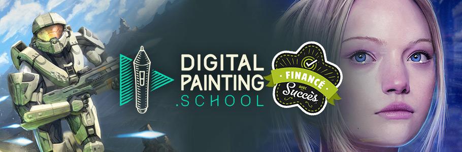 DigitalPainting.school est financé avec succès !