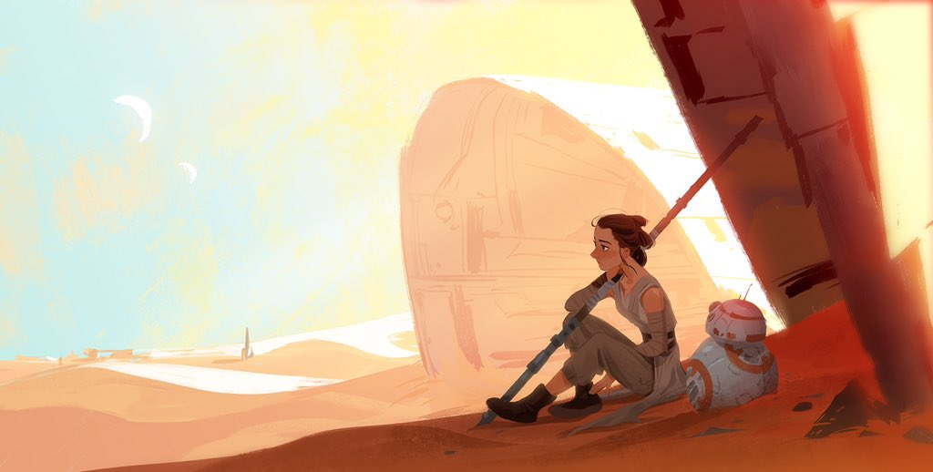 25 Illustrations et Fan arts en digital painting sur Star Wars