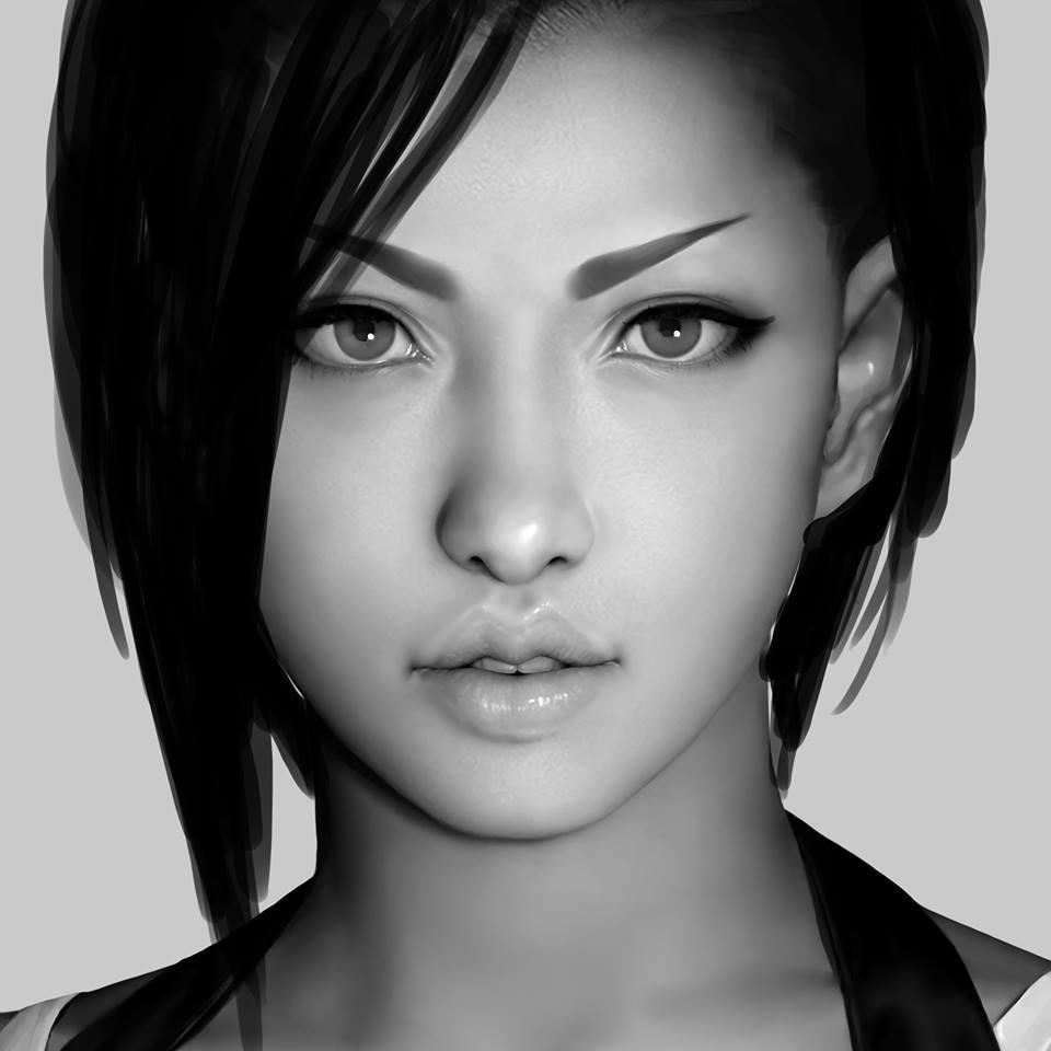 Non ce n'est pas de la 3D... voici les digital paintings de Jiyu Kaze