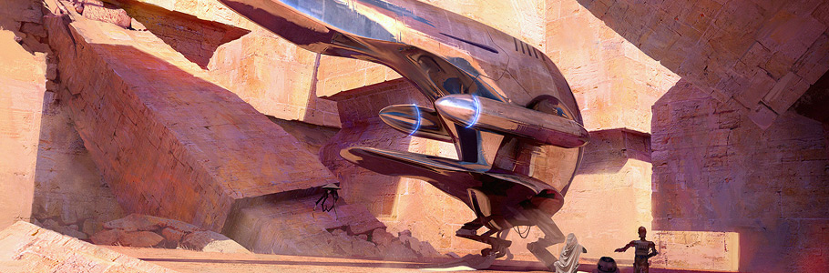 Star Wars et la science-fiction revisités en concept art par Pablo Carpio