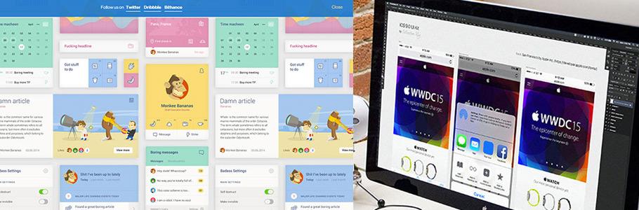 40 nouveaux PSD d'UI Kits (designs d'interface) gratuits et de qualité à télécharger