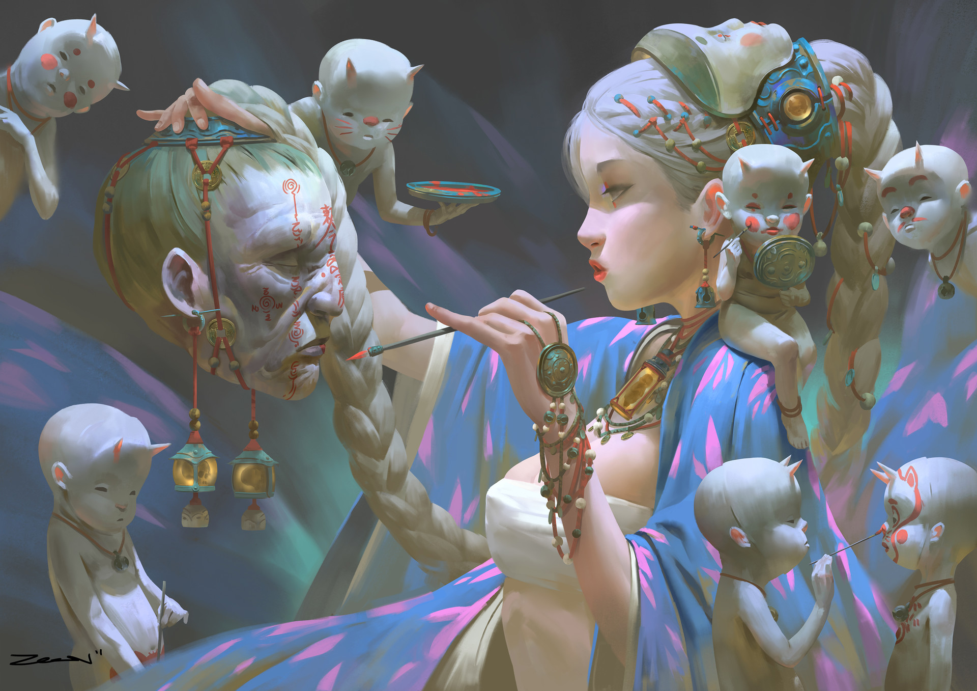 Les incroyables digital paintings du malaisien Zeen Chin
