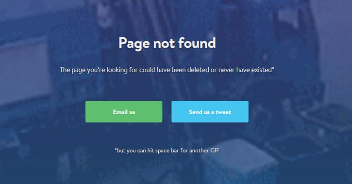 Quelques-uns des meilleurs designs de pages 404 du moment !
