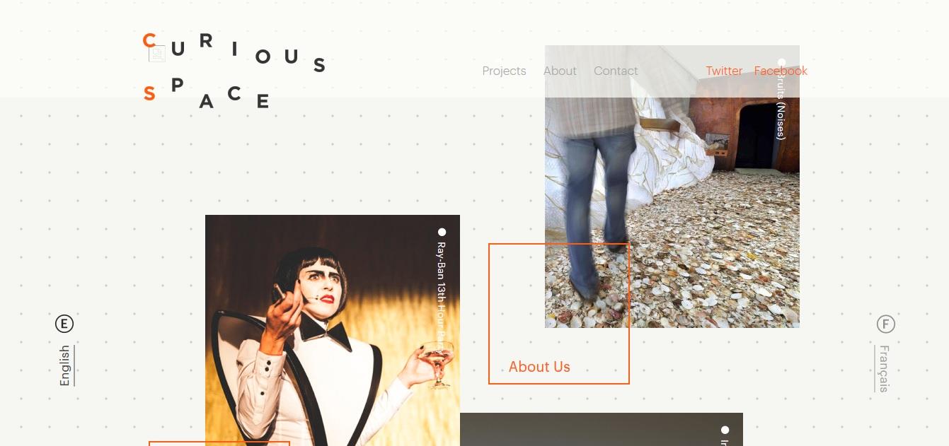 25 webdesigns avec une mise en page originale et unique