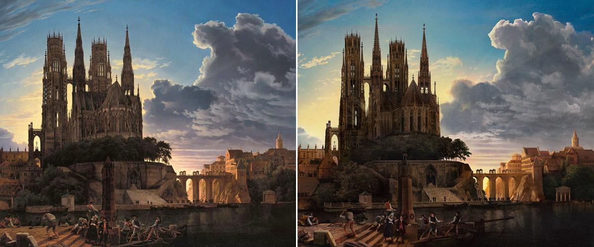 Reproduction d'une peinture de maître avec Photoshop