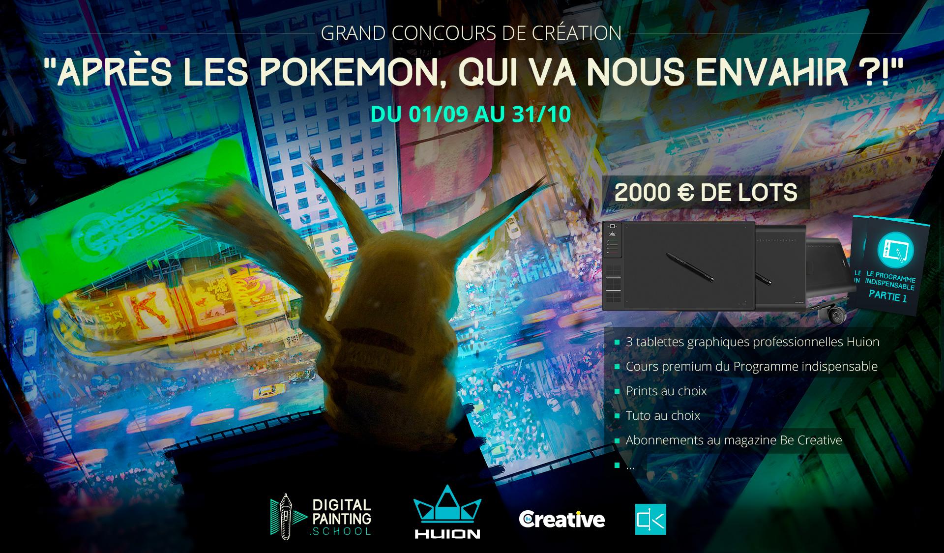 """Grand Concours de création """"Après les Pokemon, qui va nous envahir ?!"""""""