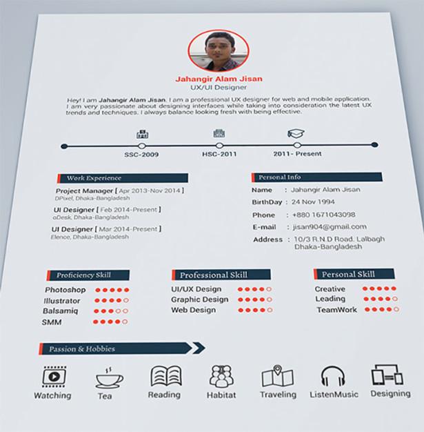 39 Excellents exemples de CV de designers