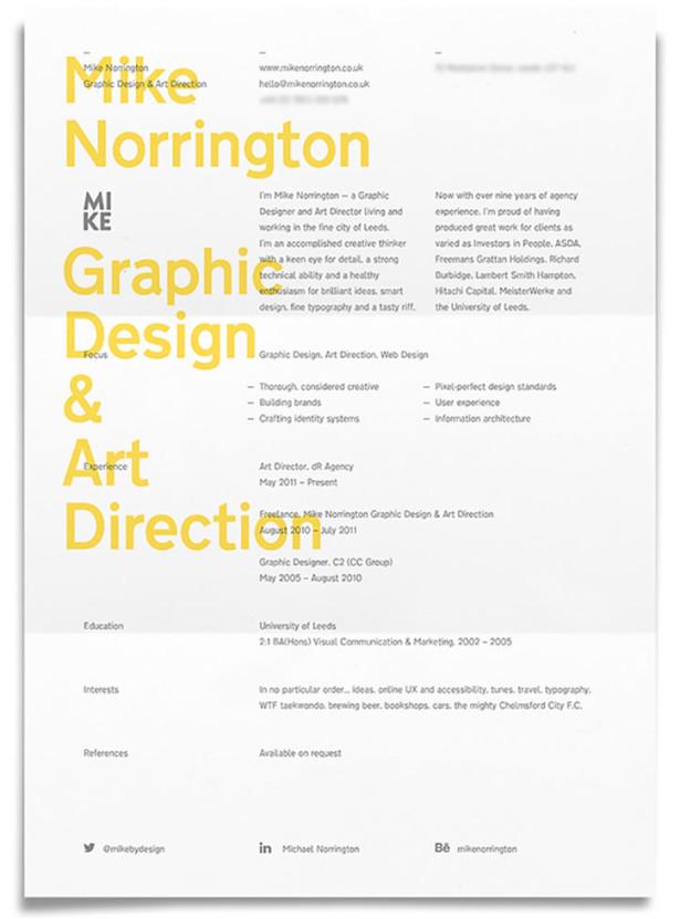 36 excellents exemples de cv cr u00e9atifs de designers