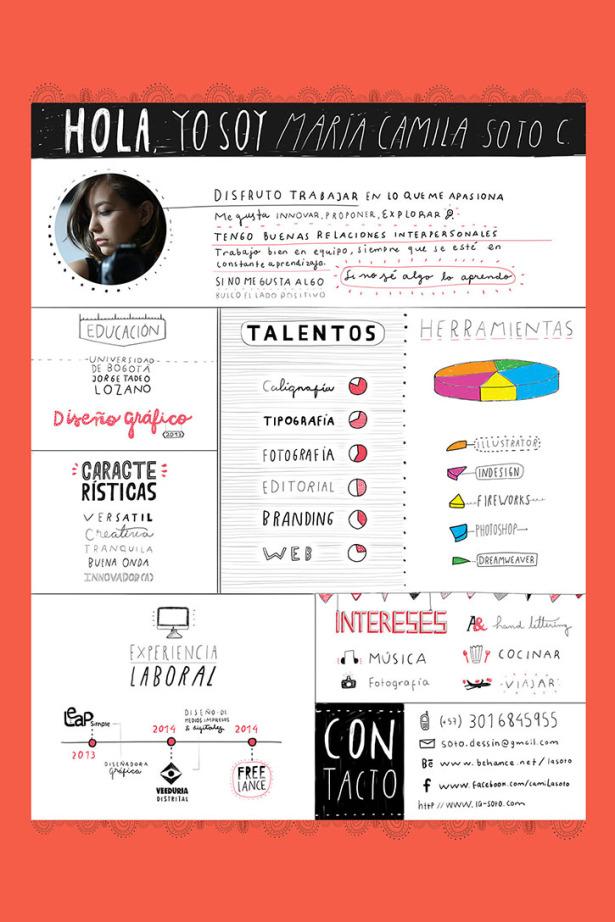 Extrêmement 36 Excellents exemples de CV créatifs de designers | Design  WL94