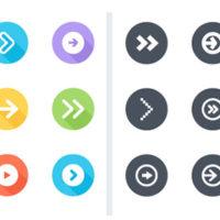 """4 Packs de 26 icônes de flèche """"précédent/suivant"""" gratuites en exclusivité"""