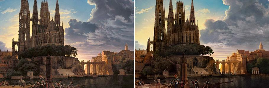 Quand un as de Photoshop reproduit une peinture de maître, ça donne ça...