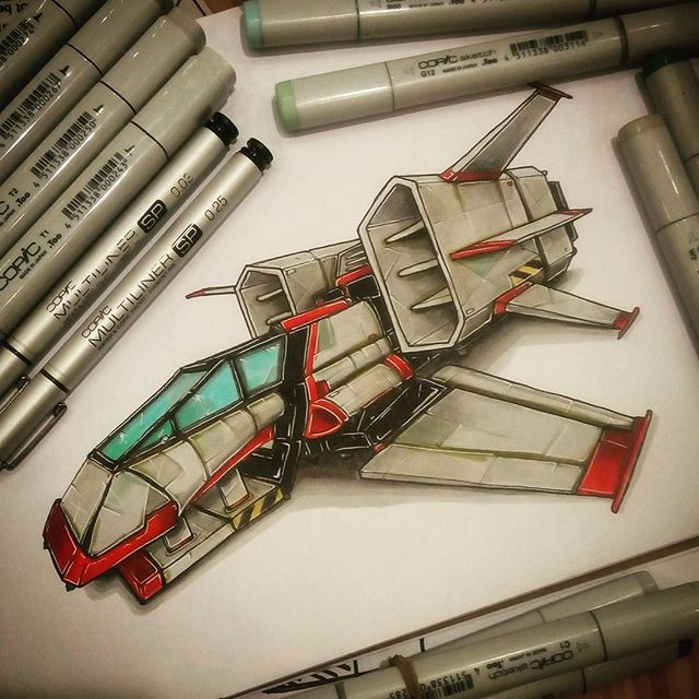 Les illustrations aux marqueurs Copic géniales de Valentin Tino