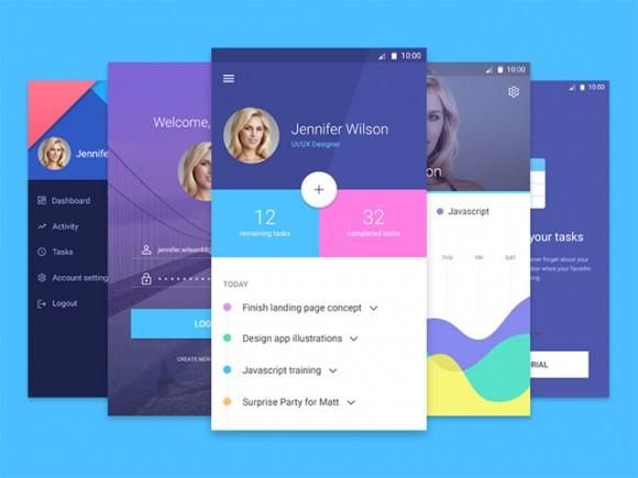 25 ressources pour design d'applications mobiles en PSD et vectoriel