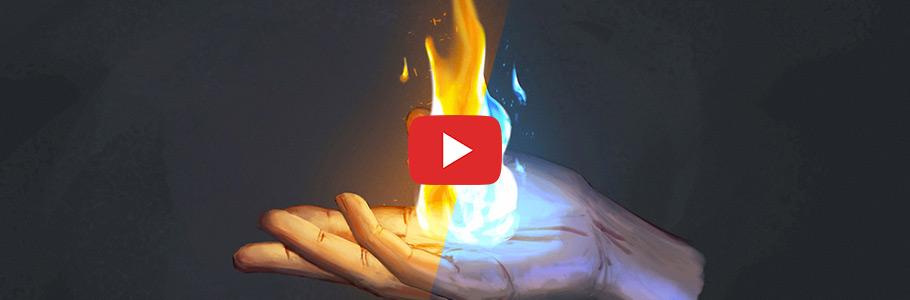 Vidéo : Comment peindre du feu rapidement et facilement en digital painting ?