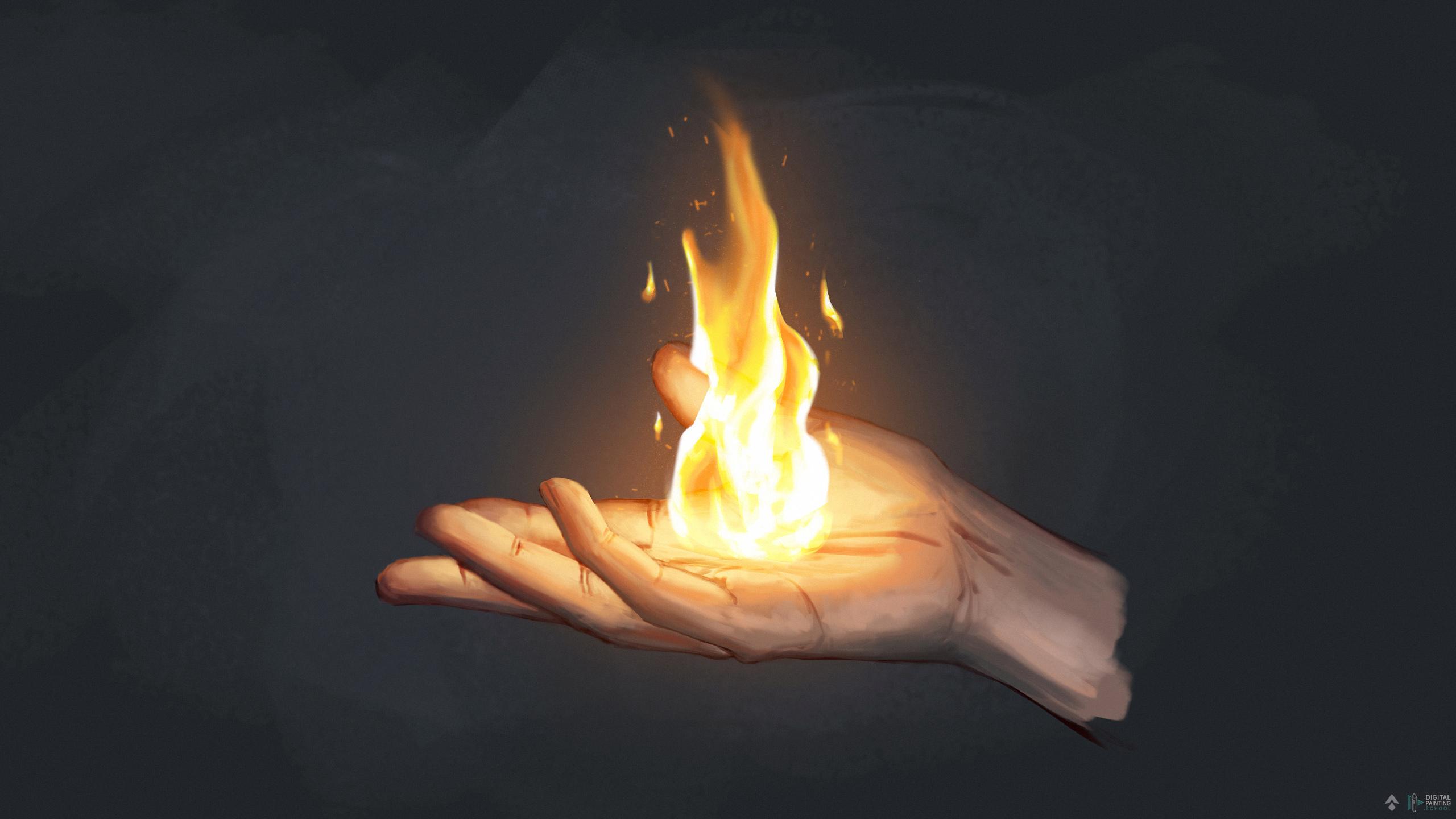 Video : Comment peindre du feu rapidement et facilement en digital painting ?