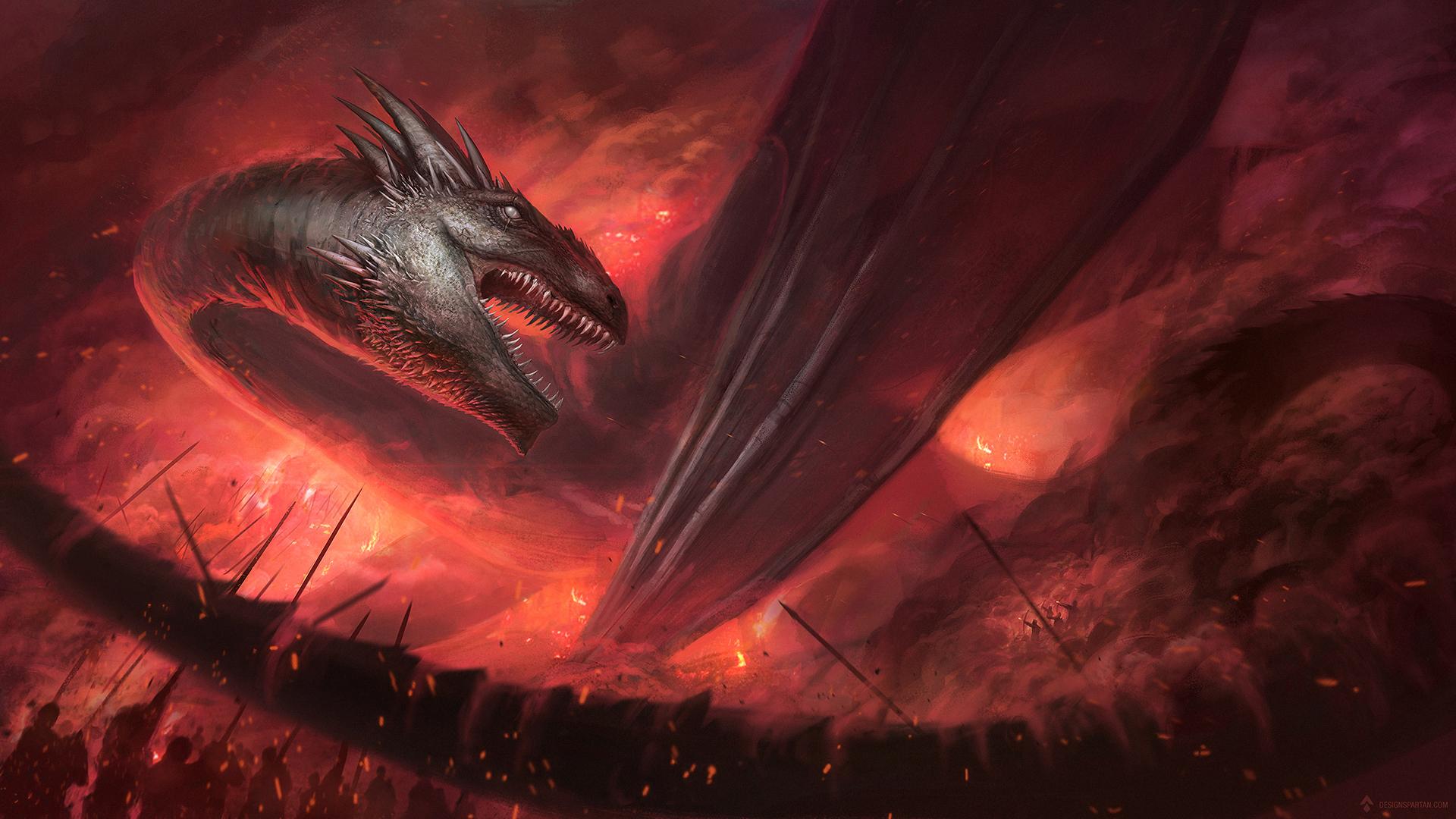 """Vidéo : Speed painting accéléré : """"Dragon encerclé"""""""