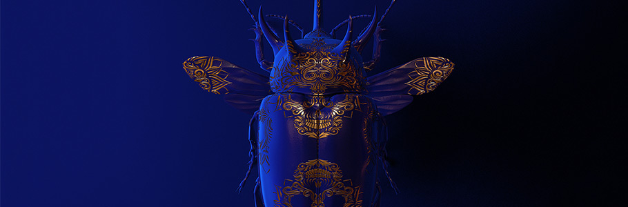 'Engraved Entomology', le projet d'art digital mirifique de Billelis