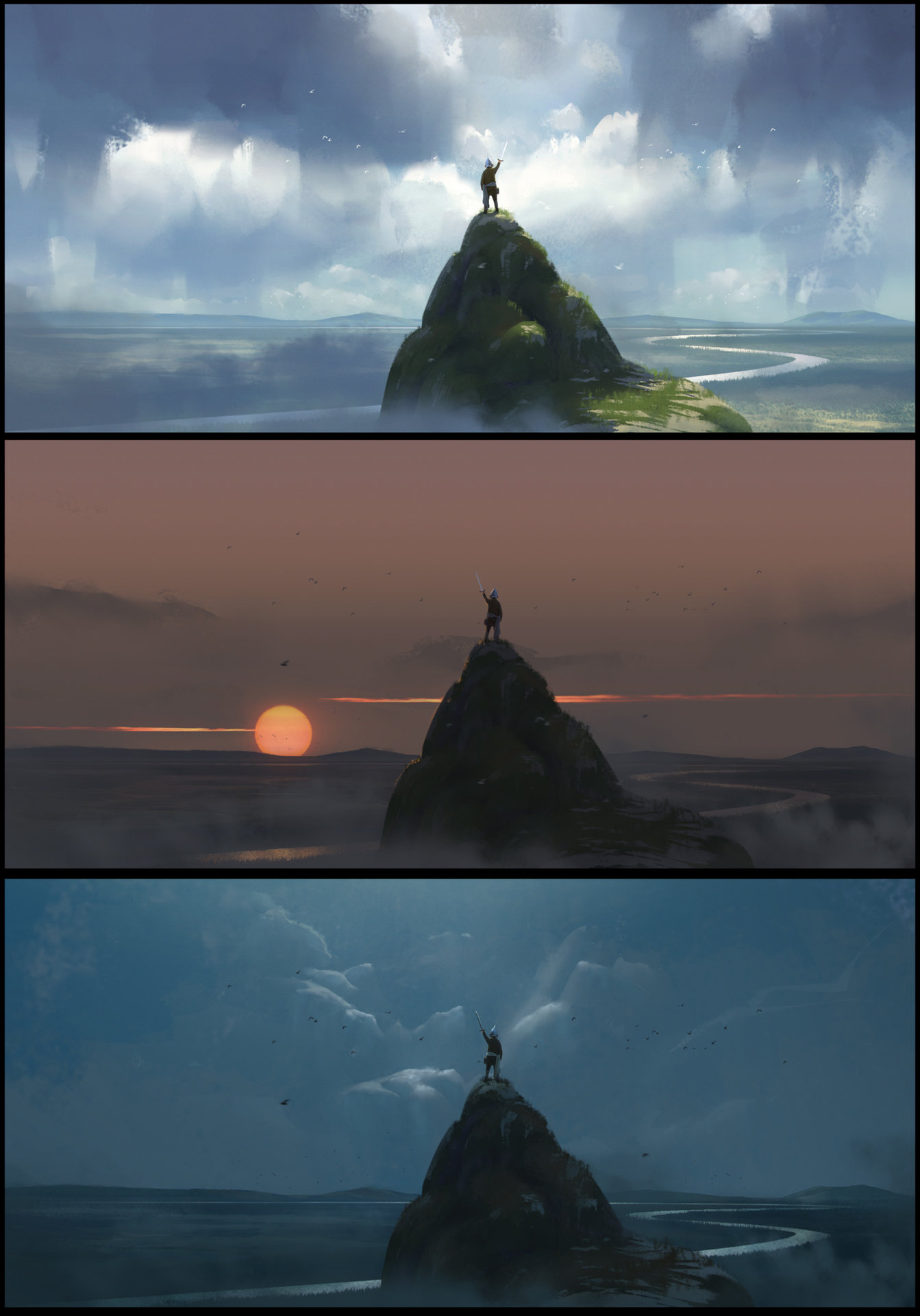 Les matte paintings de Florent Lebrun