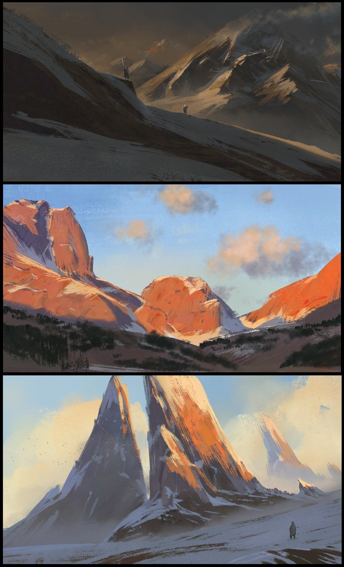 Les matte paintings de Florent Lebrun