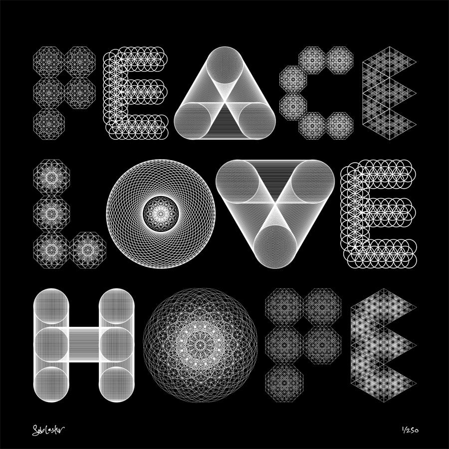 Les dessins symétriques de Seb Lester