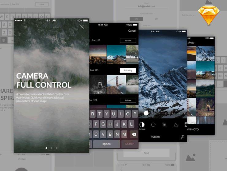 20 UI Kits gratuits pour créer vos applications mobiles