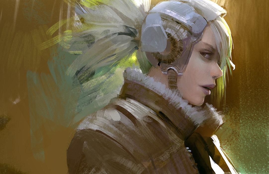 Les personnes et environnements futuristes en digital painting de Brandon Liao