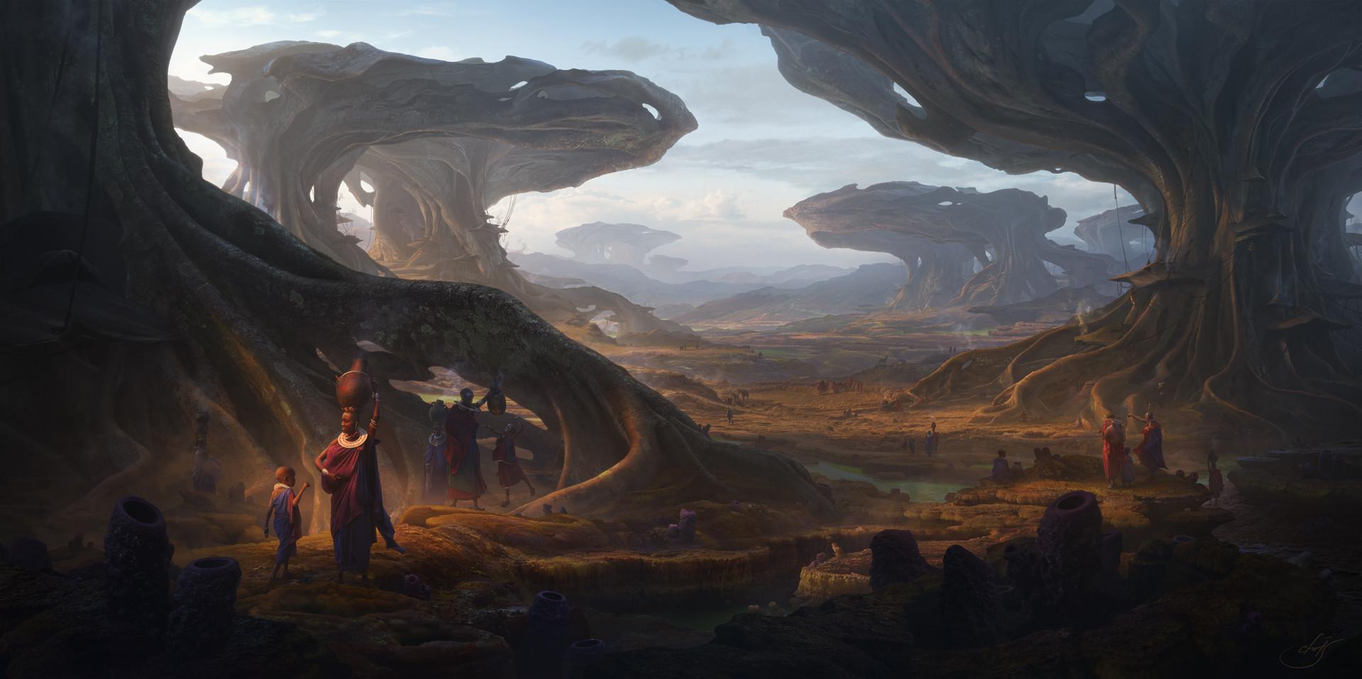 Christian Dimitrov et ses panoramas saisissants en matte painting