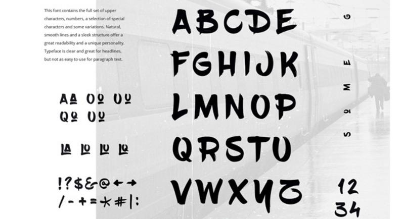 20 Typographies faites au pinceau de qualité et gratuites