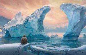 ice sea concept art digital painting