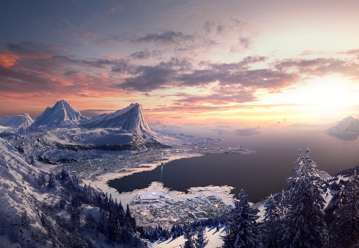 Tutoriel : Créez un matte painting de montagnes enneigées