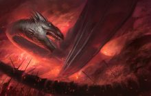 Surrounded dragon digital painting