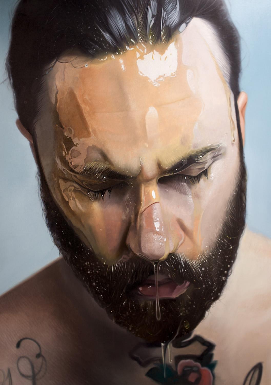 Mike Darkas et ses peintures transpirantes d'ultra-réalistes
