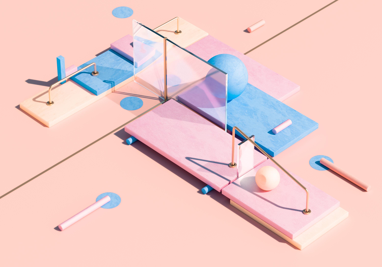 Les créations minimalistes en 3D de Rafael Merino