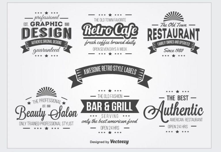 Vintage logo design software
