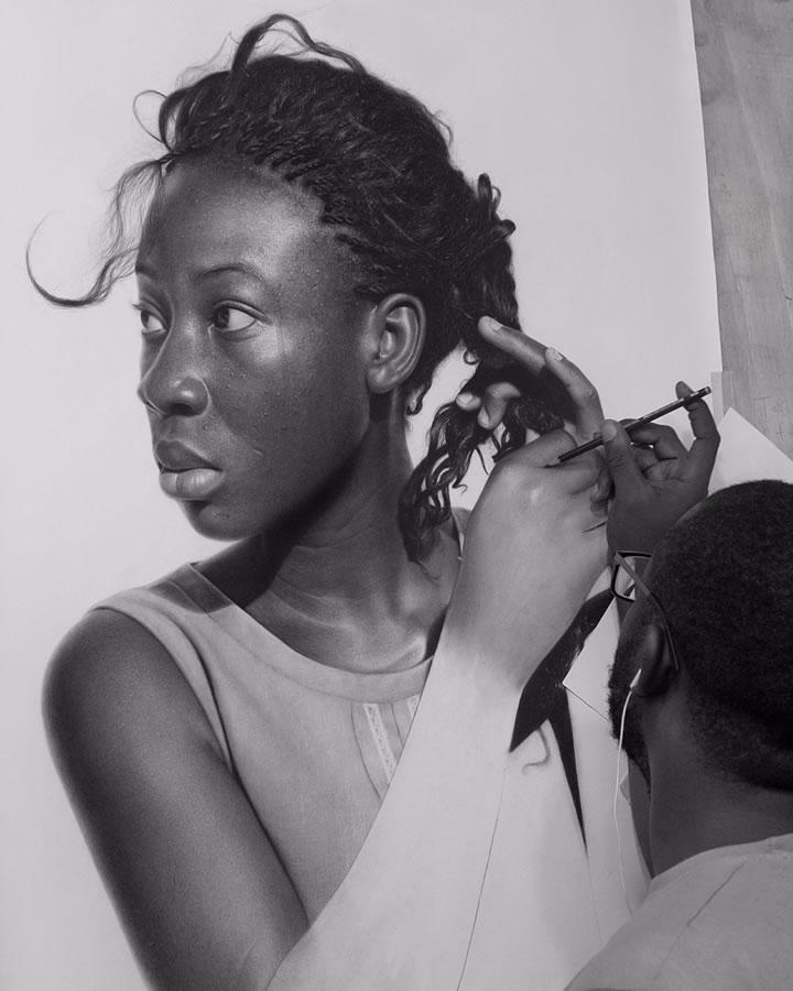 Les dessins hyper réaliste au crayon de Arinze Stanley