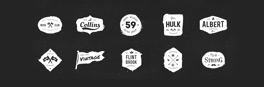 10 Templates gratuits de logos, badges et labels vintage