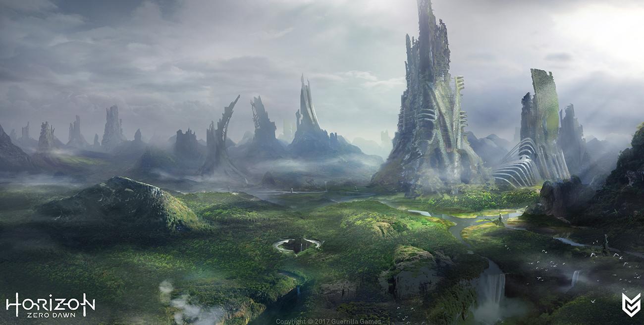 Les Concept arts pour Horizon Zero Down et autres par Lloyd Allan