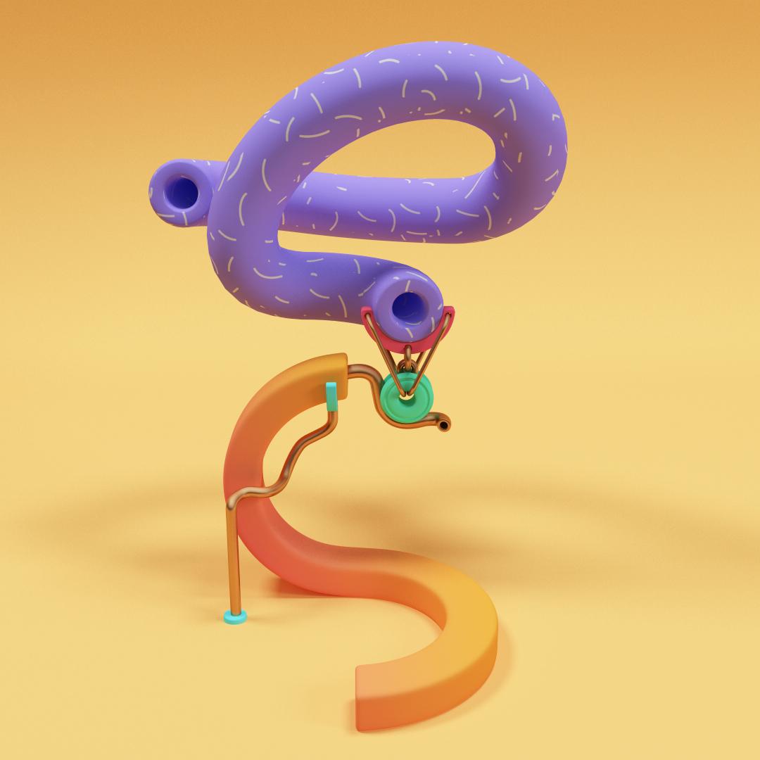 L'exploration de typographie en 3D par Jose Carlos