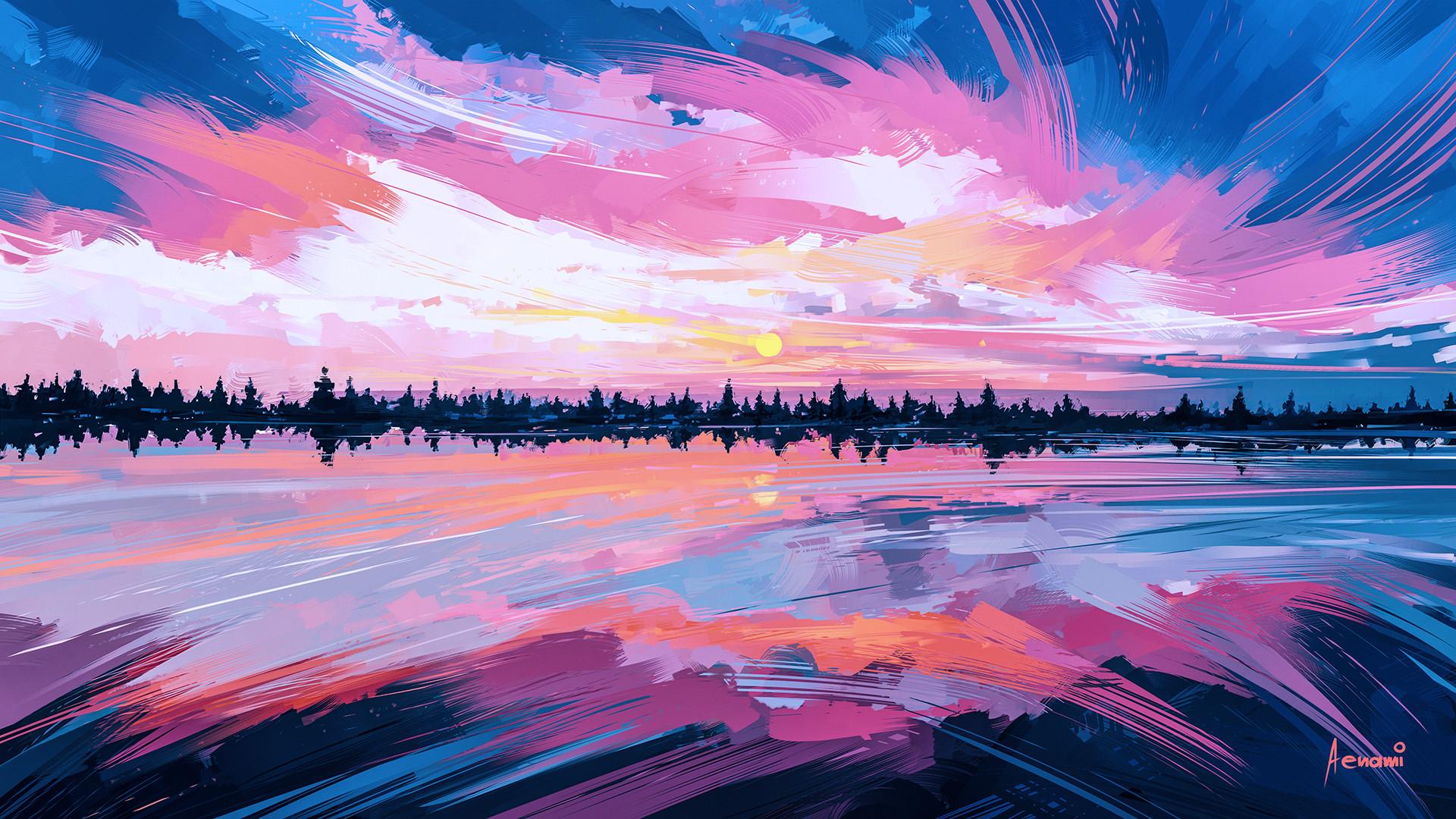 Les ambiances pleines d'émotion en digital painting d'Alena Aenami