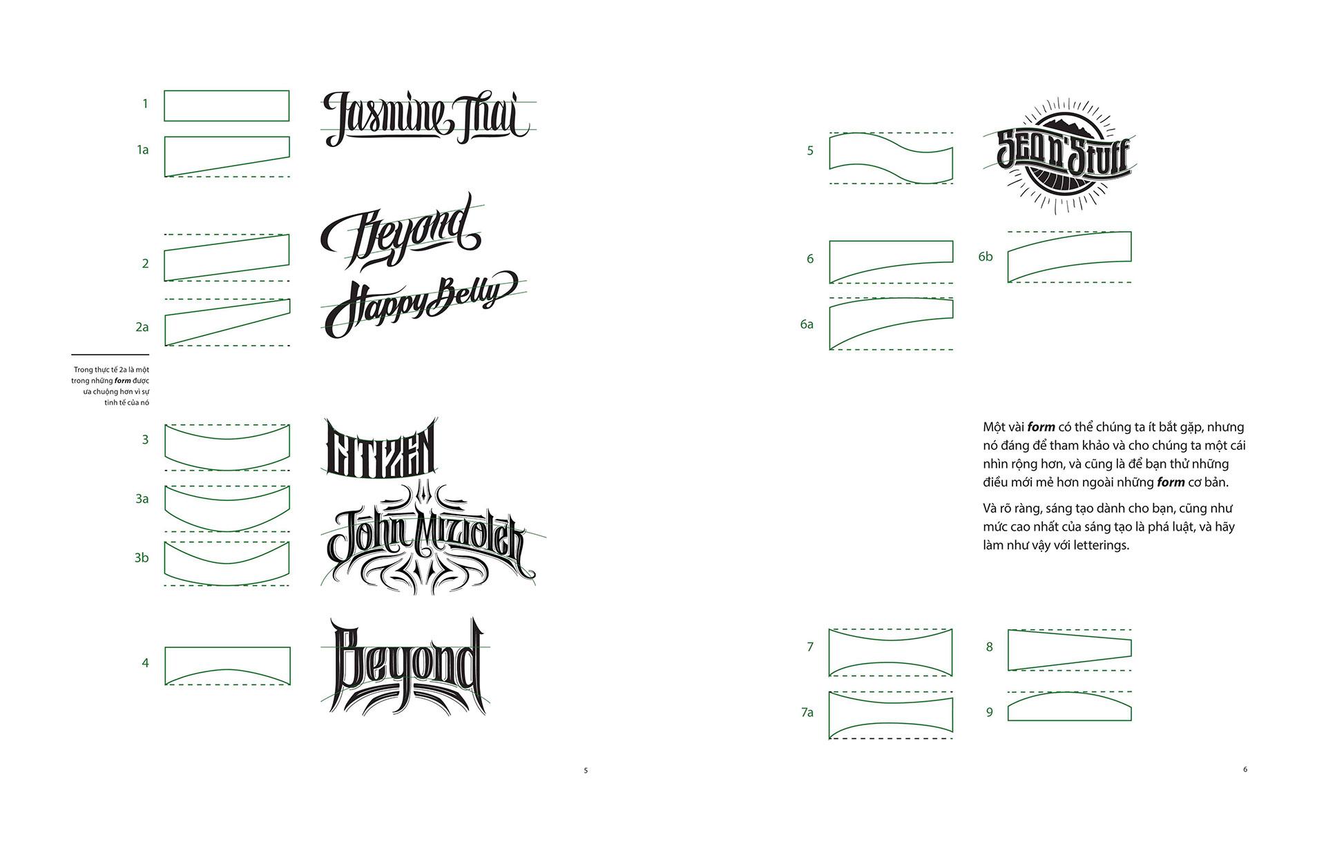 Les projets Typographies et Letterings géniaux de Biksense Nguyen